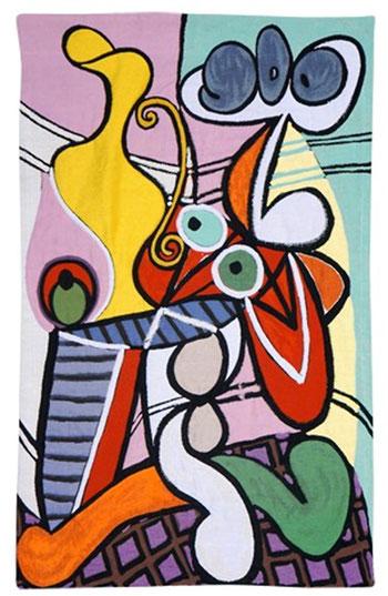 Toutes les couleurs de Picasso réalisées dans une magnifique tapisserie Jacquard