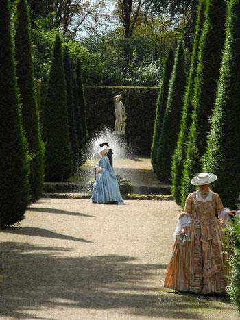 rokoko flanieren park Kleid 18. jahrhundert