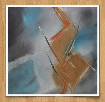 Wasser und Erde  60 x 60cm  Acryl auf Leinwand  - verkauft -