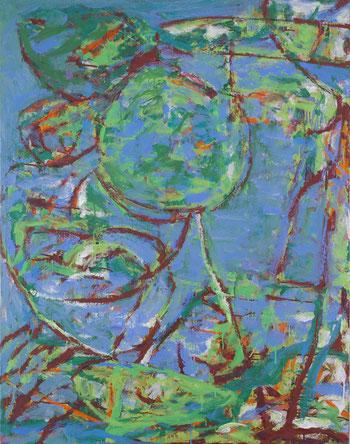 空の形         キャンバスに油彩   130.3×97cm