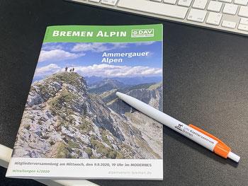 """""""Bremen Alpin"""" das Vereinsmagazin der Sektion Bremen des Deutschen Alpenverein"""