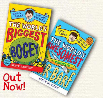 Danny Baker Record Breaker: The World's Biggest Bogey and The World's Awesomest Air Barf is out in January 2010 and Long-listed for the Waterstone's Prize!