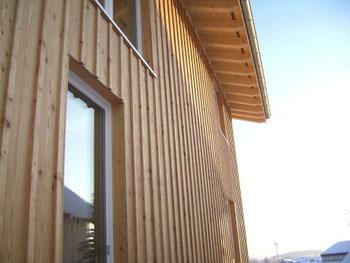 Stehende/senkrechte Holzfassade, wie ich sie jetzt plane