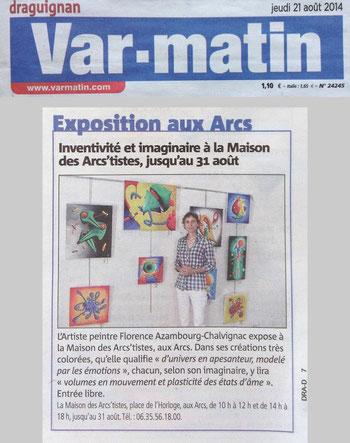Article de Var Matin paru le 21 aout 2014