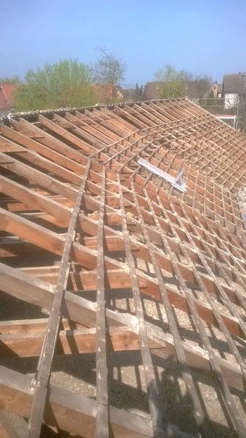 Alte Dachfläche abgenommen