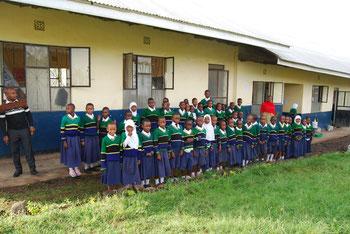 Baustand der Sanya Hoye Primary School, Juli 2019