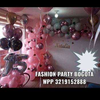 Decoracion con globos para 15 a os fashion party for Globos para quince anos
