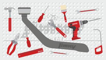 Jimny Schnorchel Werkzeugwand