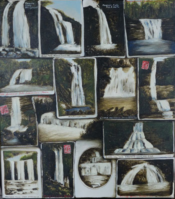 'Waterfall collection II',2014,400 x450mm,oil on canvas.