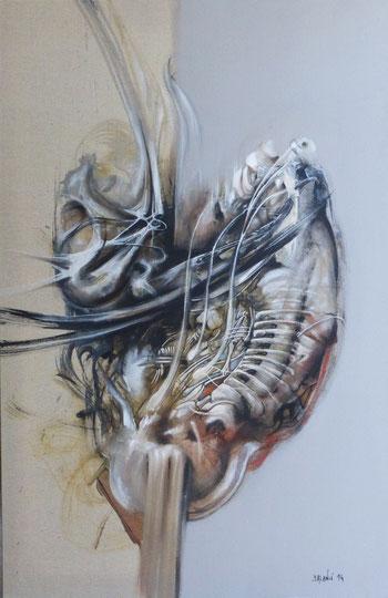 Mutation Acrylique sur toile Dim:92cmx60cm