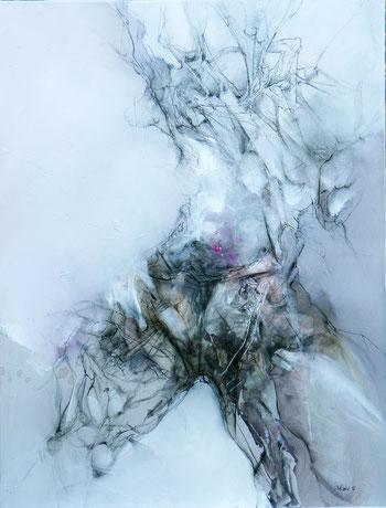 Femme acrylique sur toile Dim 116cm x 89cm