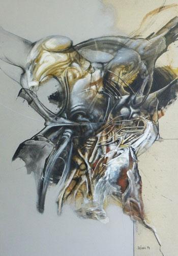 Metamorphose Acrylique sur toile Dim: 92cmx65cm