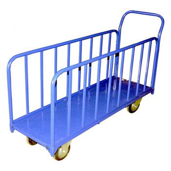 Тележка длинномерная, для перевозки длинномерных грузов по узким проходам.