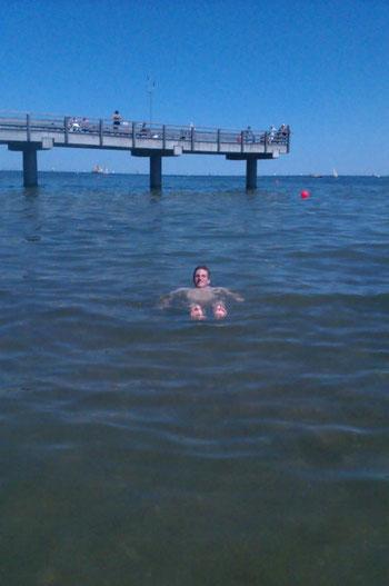 ...und die perfekte Einstiegsmöglichkeit in die Ostsee :)