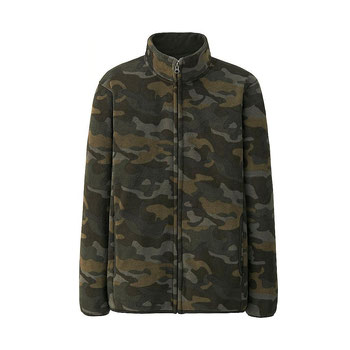 UNIQLO Men Fleece Camouflage Jacket