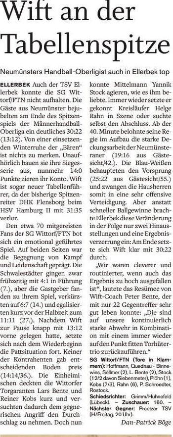 7. Spieltag, Holsteinischer Courier