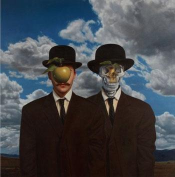 """Opera Pop di Ron English:  Stereo Magritte (da """"La Grande Guerra"""")"""
