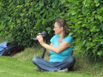 Barbara Weber für einmal vor der Kamera