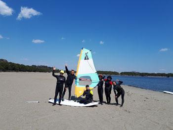 ウインドサーフィン スクール 体験 初心者 神奈川 横浜 海の公園 スピードウォール