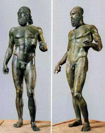 Museo Archeologico Nazionale di Reggio Calabria, Bronzi di Riace, rispettivamente A e B