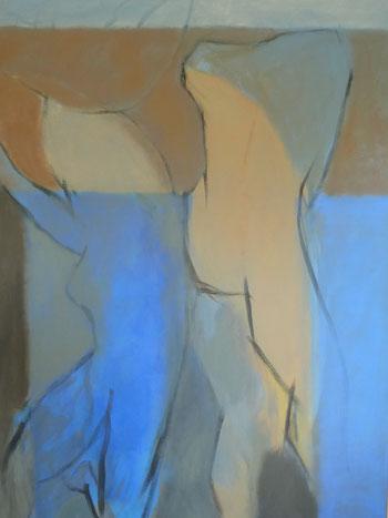 L'Autre ment / Acrylique sur toile 162x114