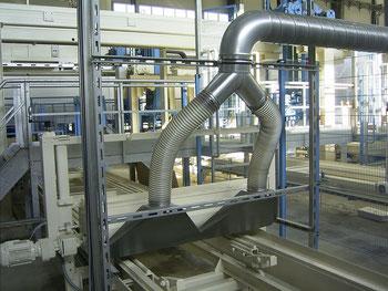 Aspiración polvo fabricación bloques