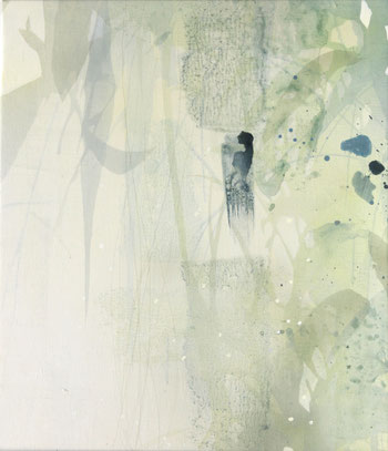 アクリル絵画 抽象 透明感