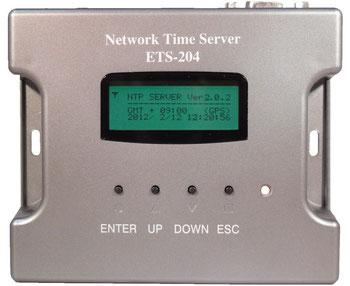 電波時計・GPS NTPサーバー ETS-204(V3)製品前面写真