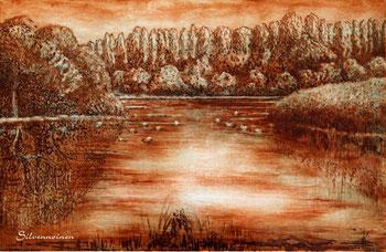 Ätz-Radierung - Wasserlandschaft