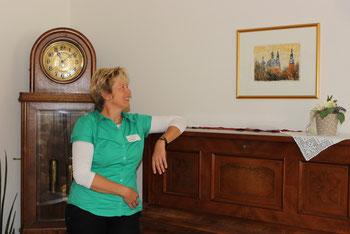 Hospiz St. Elisabeth in Fulda - Leiterin Frau Pfeffermann Monotypie Barocke Domtuerme