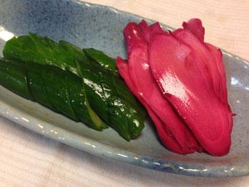 静岡産のショウガと地元の方の梅酢で漬けた生姜漬け