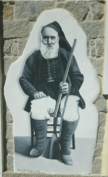 murales che rappresenta il costume di Orgosolo