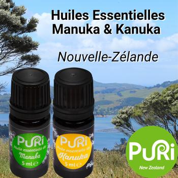 Huile Essentielle Manuka Kanuka Puri New Zealand