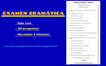 Examen 1 - Gramática inglesa