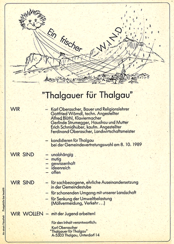 Erste Aussendung 1989