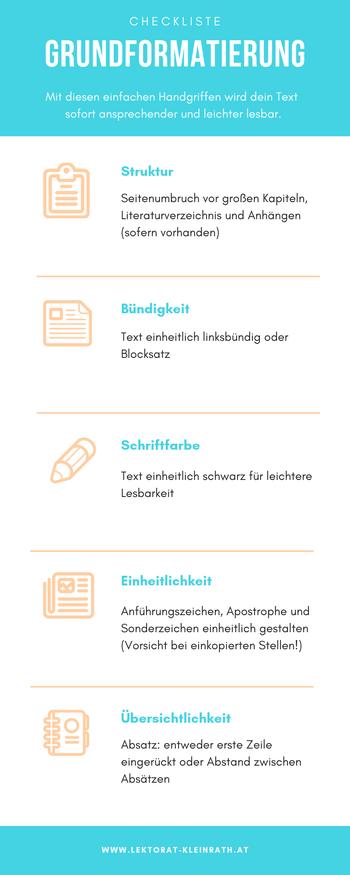 Checkliste Formatierung Word einfach