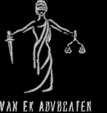 Logo van Ek advocaten met schaduw.