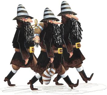 Von links nach rechts: Schwarzer Petzer, Finn (mal wieder kopfüber), Jammerjockel und Kreuzbube.