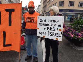 Aktivister fra 'Boykot Israel Kampagnen' i København
