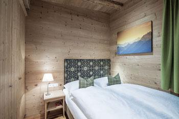 Kingsize-Doppelbetten im Berghaus