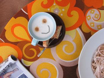 Essen, Cappuccino, Inspiration, so klappt es bestens...