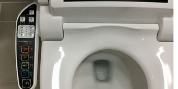 High tech electronic toilet