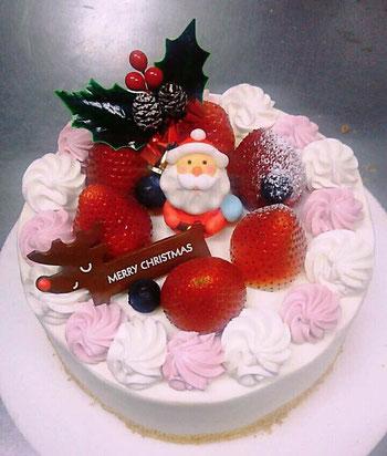 エミル クリスマスケーキ 手作りケーキ イチゴクリームと生クリーム 各務原ケーキ 岐阜ケーキ イチゴサンド