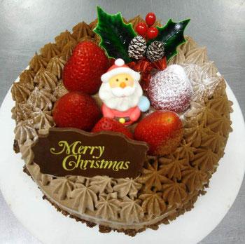 エミル クリスマスケーキ 手作りケーキ 生チョコクリーム 各務原ケーキ 岐阜ケーキ