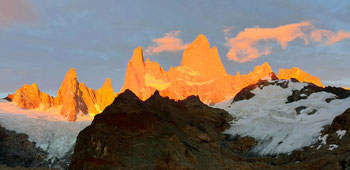 Sonnenaufgang beim Cerro Fitz Roy