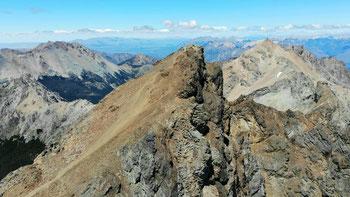 Der steile Gipfel des Cerro Piltriquitrón: da sind wir hoch gekrochen