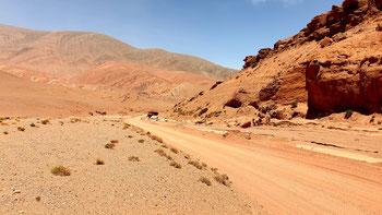 Der rote Canyon auf dem Weg zur Laguna Brava