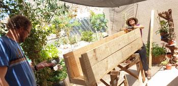 Gartenarbeiten bei Leonor in Chilecito