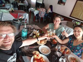Abschiedsessen mit Leonor in Chilecito