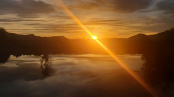 Sonnenuntergang am Rio Chubut